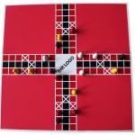 Spiel Pachisi rot-weiß mit Branding