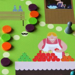 Einkauf Spiel für Kinder: OBSTSALAT! Adventkalender Fenster 21.