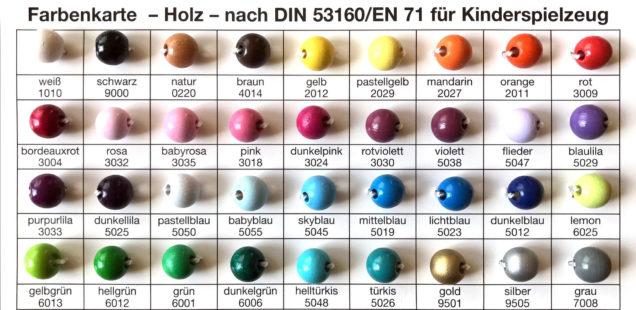 Halmakegel Holz: Wir haben mehr als 30 Farben auf Lager! Und ausgefallene Pöppel-Mischungen...