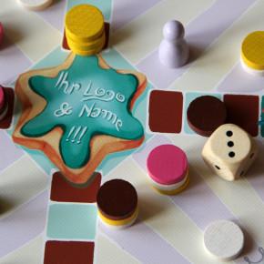 Gebrandetes Weihnachts-Brettspiel