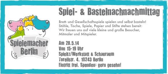 Wir laden ein: Spiele erfinden, basteln + spielen - am Weltspieltag, 28.Mai #berlin