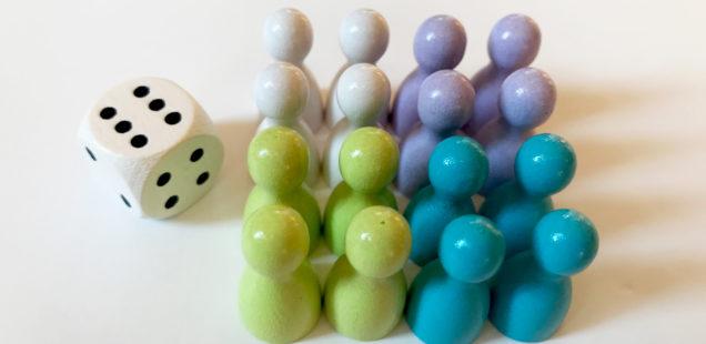 HEUTE im Angebot: Ludo Spielfiguren in Pastellfarben #pöppeltage #halmakegel