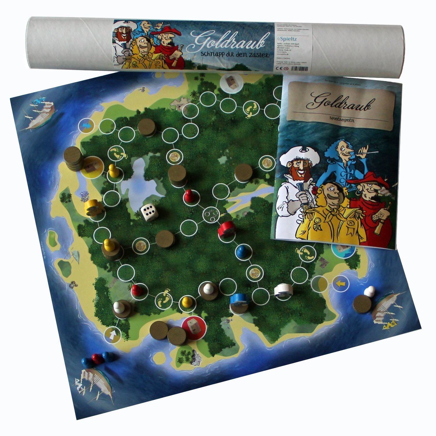piraten brettspiel goldraub spieltz