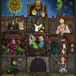 Das Glückshaus Spiel - mittelalterliches Glücksspiel