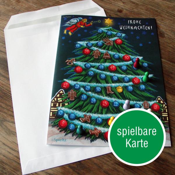 spielbare weihnachtskarte mit button