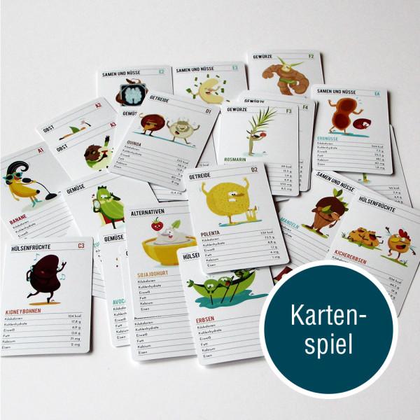 Kartenspiel vegane Ernährung Quartett Vegan Spieltz